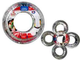 96 Units of Round Aluminum Gas Liners - Aluminum Pans