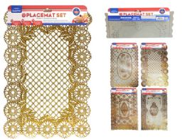 96 Units of PLACEMAT ASSORTED DESIGN - Placemats and Doilies