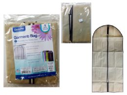 72 Units of Garment Bag With Window Beige - Travel & Luggage Items