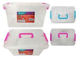 48 Units of Storage Box With Handle - Storage & Organization