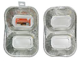 96 Units of 2 Piece 2 Section Foil Trays - Aluminum Pans