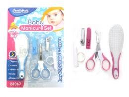 72 Units of Manicure Set 5 Piece Baby Design - Baby Beauty & Care Items