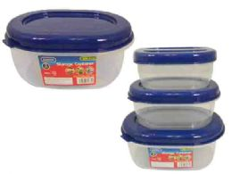 48 Units of 3pc Oval Food Containers - Food Storage Containers