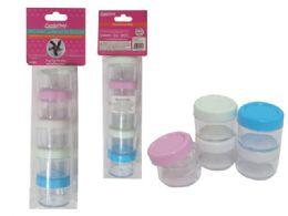 72 Units of 5 Piece Mini Storage Jar - Storage & Organization