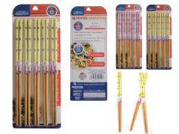 72 Units of 5 Pair Printed Bamboo Chopsticks - Kitchen Gadgets & Tools