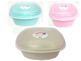 60 Units of Square Container With Viewable Lid Assorted Color - Food Storage Containers