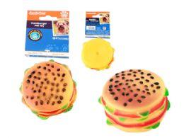 48 Units of Squeaky Pet Toy Hamburger - Pet Toys