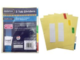 144 Units of Tab Index Dividers 5 Pieces - Dividers & Index Cards