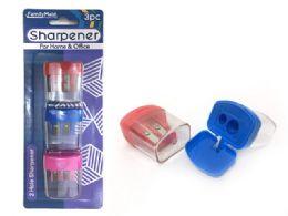 144 Units of Sharpener 3 Piece 3 Assorted - Sharpeners