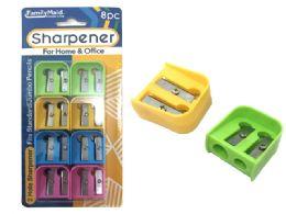 144 Units of 8 Piece Pencil Sharpener - Sharpeners