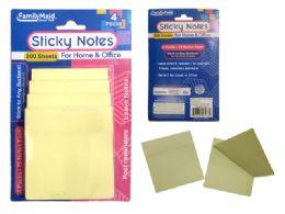 96 Units of 4 Pack Sticky Notes - Sticky Note & Notepads