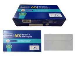 24 Units of 60 Piece Security Envelopes Peel And Stick - Envelopes