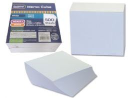 108 Units of Memo Cube 500 Sheets In White - Sticky Note & Notepads
