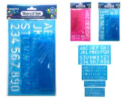 144 Units of Lettering Stencils - Craft Kits