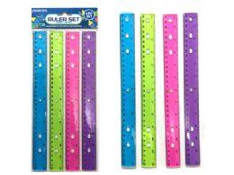 144 Units of Ruler 4 Piece Set - Craft Kits