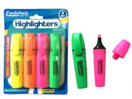 144 Units of Highlighters 4 Piece Set - Highlighter