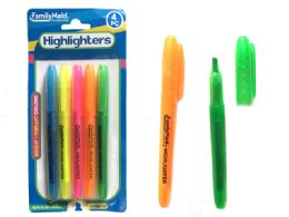144 Units of Highlighters 5 Piece Assorted Color - Highlighter