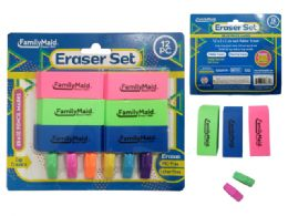 48 Units of 12 Erasers 6 Caps And 6 Blocks - Erasers
