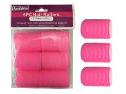 96 Units of 6 Piece Cling And Foam Hair Rollers - Hair Rollers