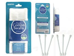 72 Units of Cotton Swabs 350 Piece Plastic - Cotton Balls & Swabs