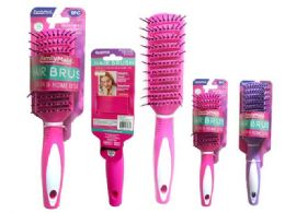 72 Units of Hair Brush Assorted Color - Hair Brushes & Combs