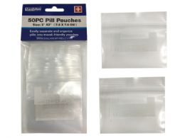 144 Units of 50 Piece Pill Pouches - Pill Boxes and Accesories