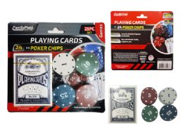 48 Units of Playing Card And 24 Poker Chips - Playing Cards, Dice & Poker