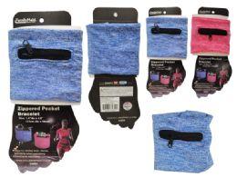 96 Units of Running Zipper Pocket Bracelet - Workout Gear