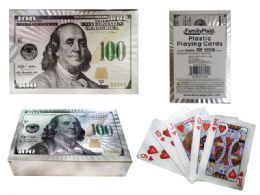 100 Units of Playing Card Plastic White Gold - Playing Cards, Dice & Poker
