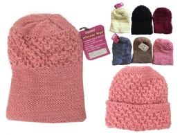 144 Units of Womens Winter Hat Assorted Color - Winter Beanie Hats