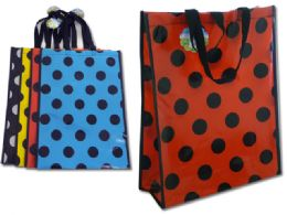 96 Units of Polka Dot Shopping Bag - Tote Bags & Slings
