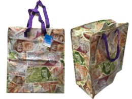 96 Units of Mexican Peso Shopping Bag With Zipper - Tote Bags & Slings