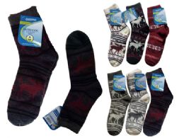 72 Units of Mens Thick Sock - Mens Crew Socks