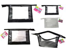144 Units of Clear Cosmetic Bag - Cosmetic Cases
