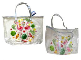 24 Units of CLEAR TOTE BAG - Tote Bags & Slings