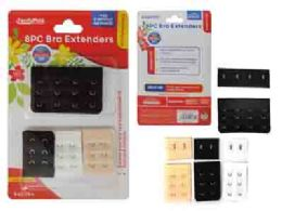 288 Units of 8 Piece Bra Extenders 3 Colors - Womens Bras And Bra Sets