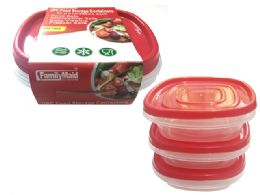 24 Units of 3 Piece Square Food Container - Food Storage Containers