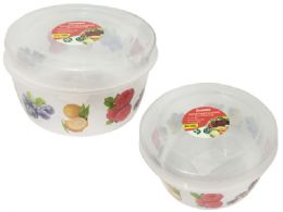24 Units of Round Printed Food Container - Food Storage Containers