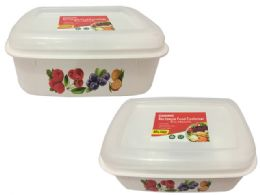 48 Units of Rectangle Printed Food Container - Food Storage Containers