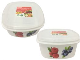 60 Units of Square Printed Food Container - Food Storage Containers