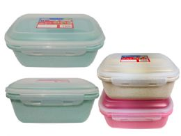 48 Units of Rectangle Food Storage Air Tight Assorted Color - Food Storage Containers