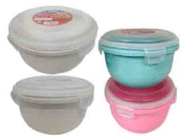 48 Units of Round Food Storage Air Tight Assorted Color - Food Storage Containers