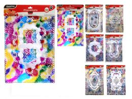 144 Units of 2 Piece Placemats Assorted Rainbow Design - Placemats