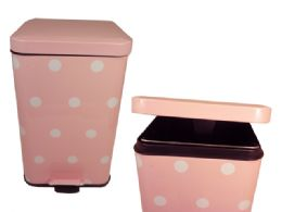 6 Units of Step Trash Can Square With Flip Top - Waste Basket