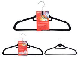 144 Units of Velvet Clothes Hanger - Hangers