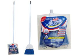 24 Units of Angle Broom With Handle - Cleaning Products