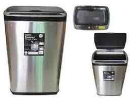 6 Units of Premium Stainless Steel Sensor Trash Can - Waste Basket