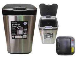Premium Stainless Steel Sensor Trash Can - Waste Basket