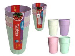 96 Units of 4 Piece Tumbler Cups - Plastic Drinkware
