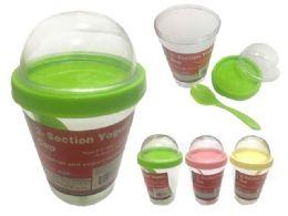 48 Units of Yogurt Cup With Spoon - Plastic Dinnerware